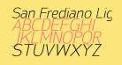 San Frediano Light Italic