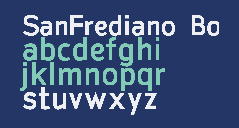 SanFrediano-Bold