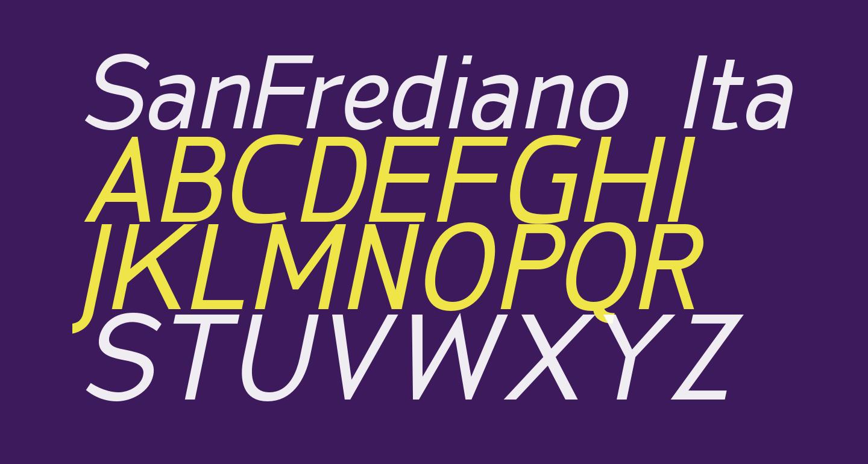 SanFrediano-Italic