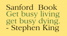 Sanford  Book
