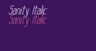 Sanity Italic