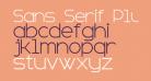 Sans Serif Plus 7