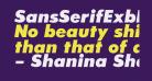SansSerifExbFLF-Italic