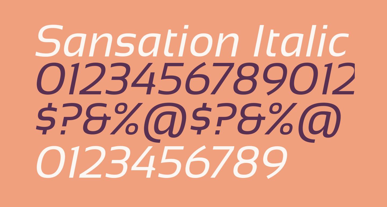 Sansation Italic