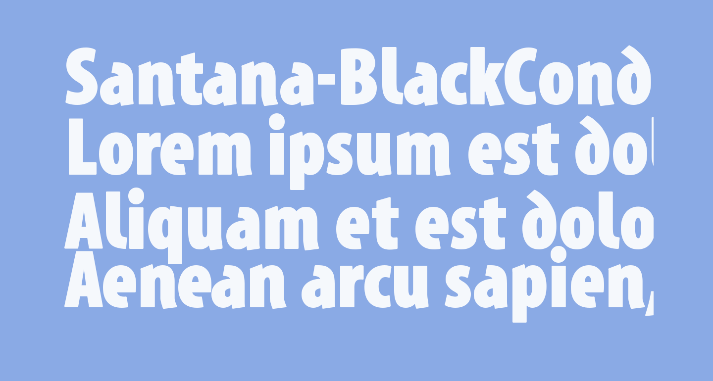 Santana-BlackCondensed