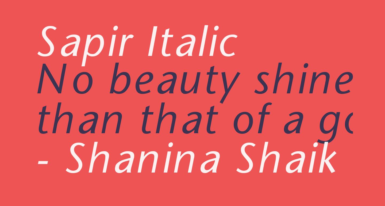 Sapir Italic