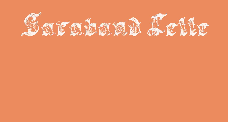 Saraband Lettering