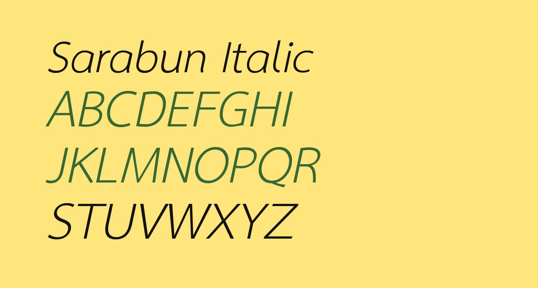 Sarabun Italic