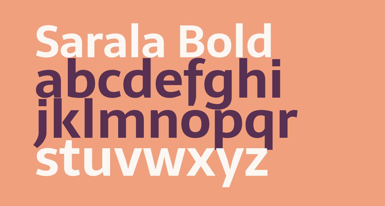 Sarala Bold