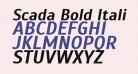 Scada Bold Italic