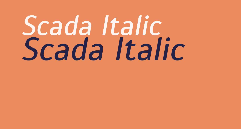 Scada Italic