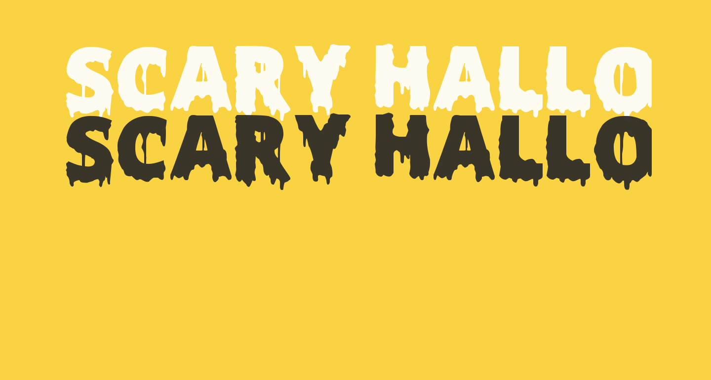 Scary Halloween Font Bold