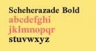 Scheherazade Bold