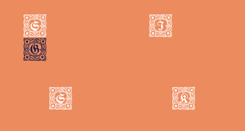Schmuck-Initialen 1