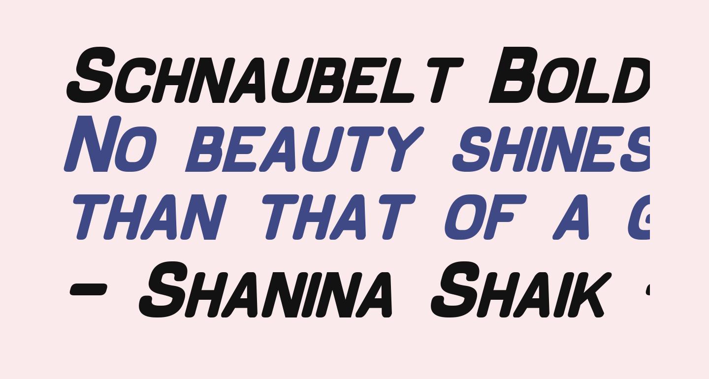 Schnaubelt Bold Italic