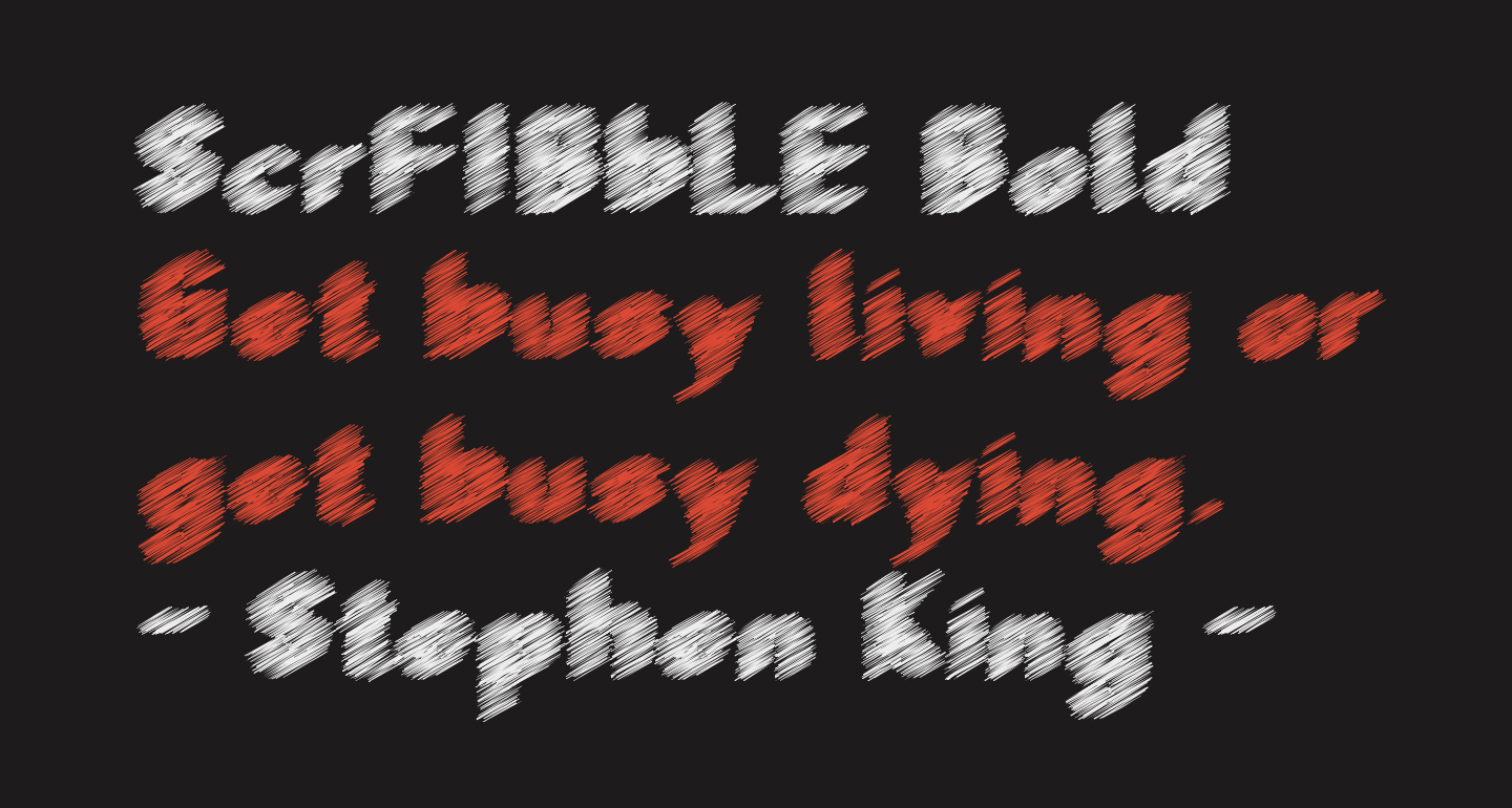 ScrFIBbLE Bold