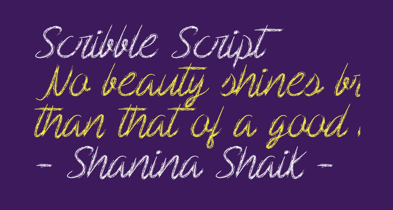 Scribble Script