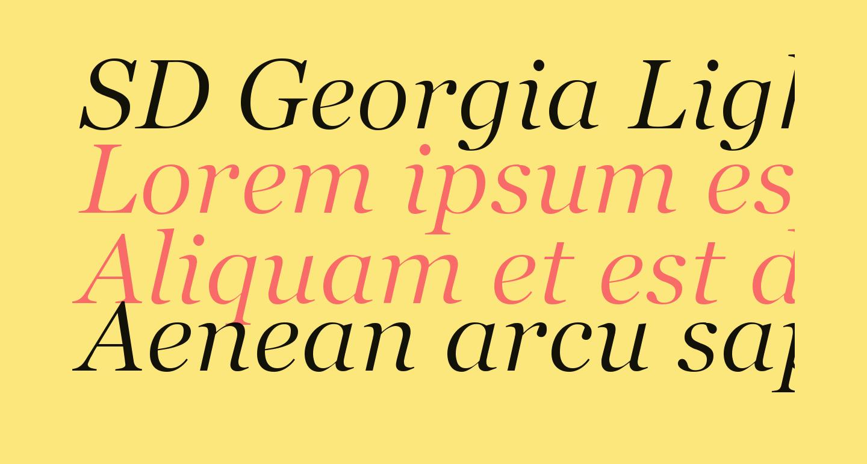 SD Georgia Light Demo Italic