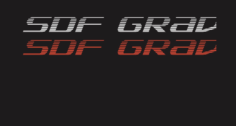 SDF Gradient Italic
