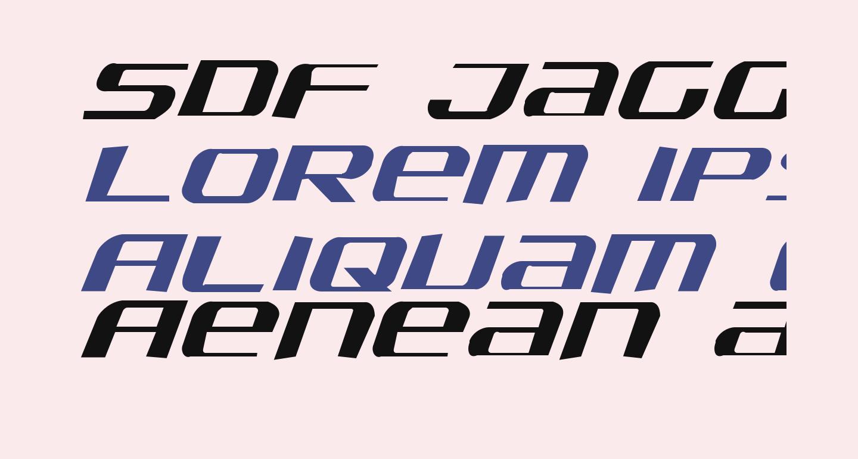 SDF Jagged Italic