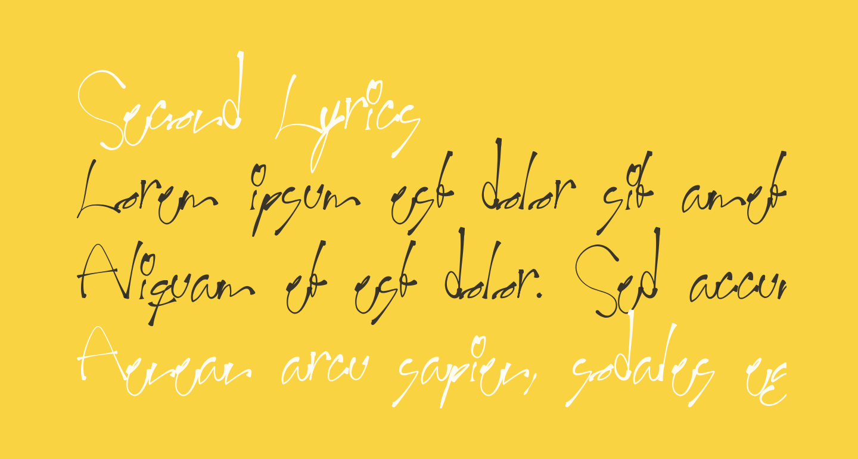 Second Lyrics
