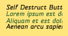 Self Destruct Button BB Italic