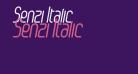 Senzi Italic