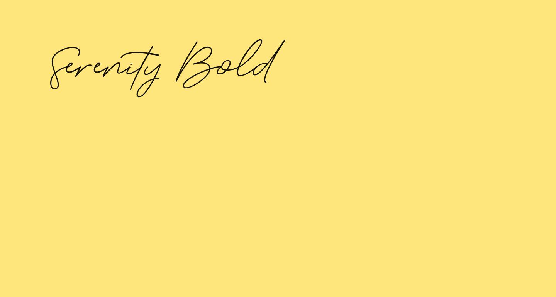 Serenity-Bold