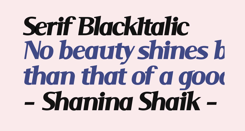 Serif BlackItalic