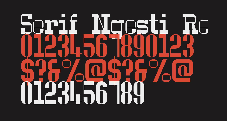 Serif Ngesti Regular