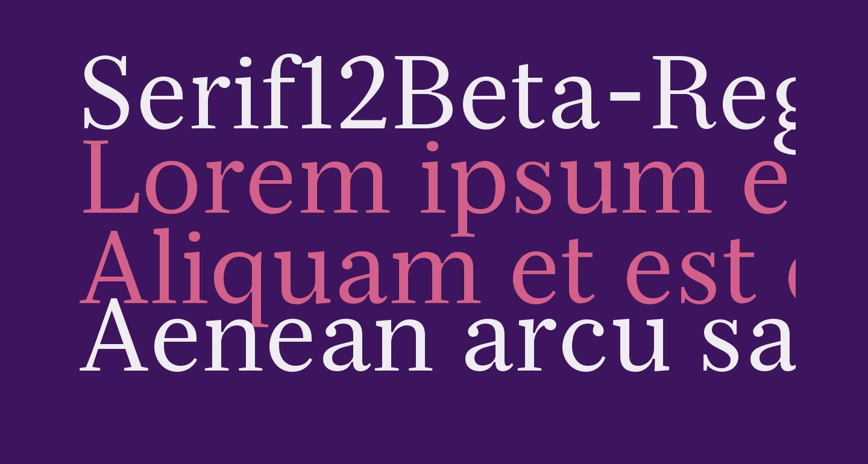 Serif12Beta-Regular