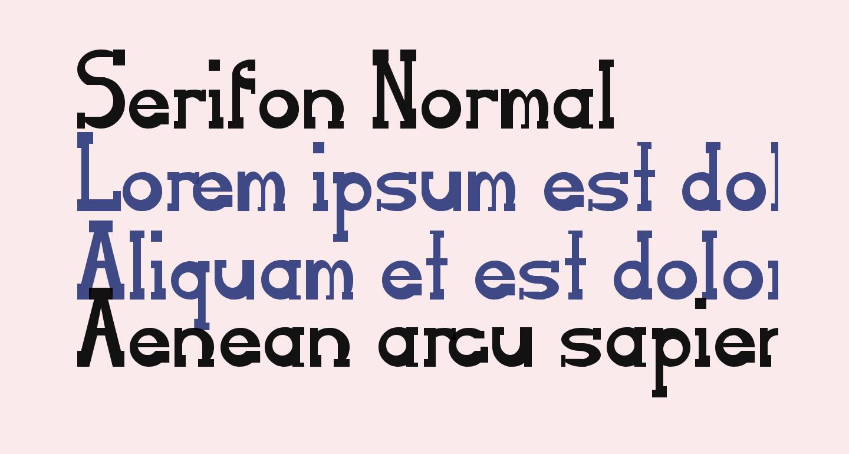 Serifon Normal