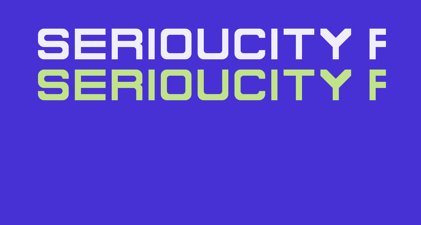 Serioucity Regular