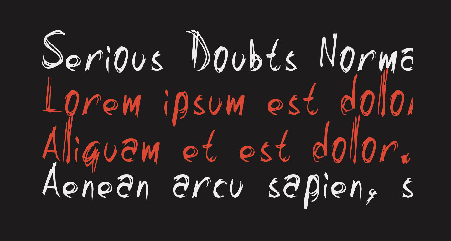 Serious Doubts Normal