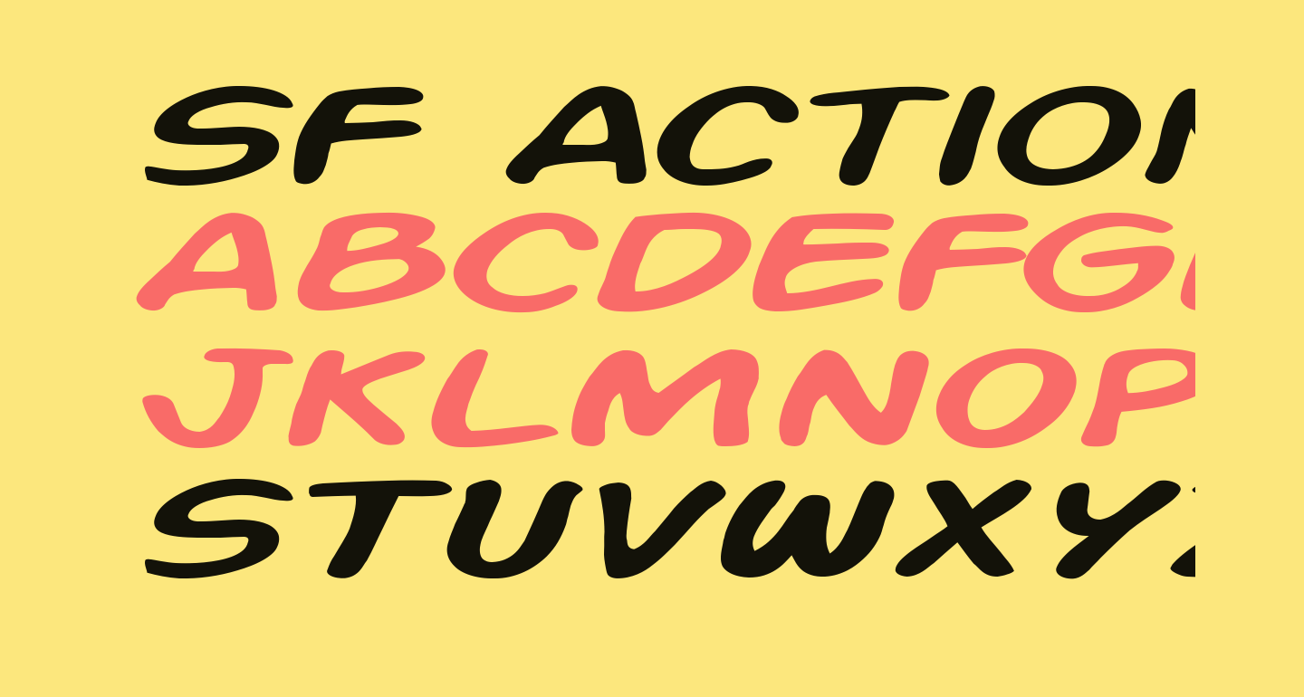 SF Action Man Extended Italic