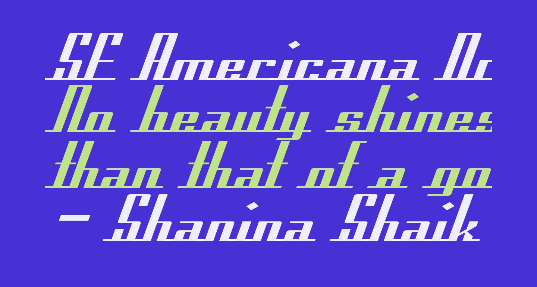 SF Americana Dreams Extended