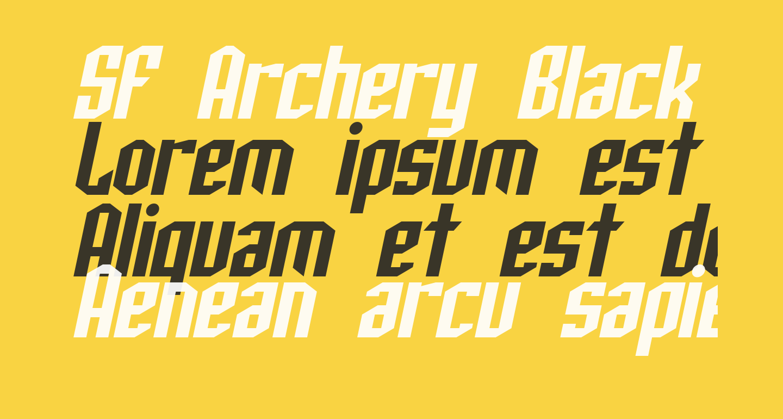 SF Archery Black Oblique