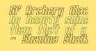 SF Archery Black Outline Oblique
