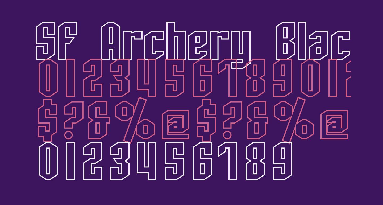SF Archery Black Outline