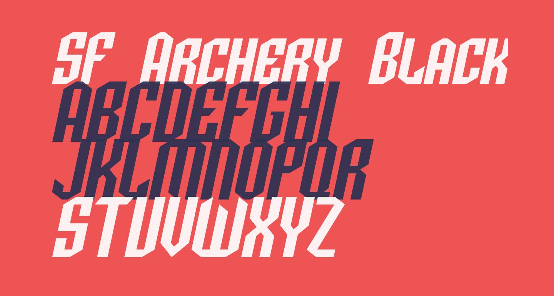 SF Archery Black SC Oblique