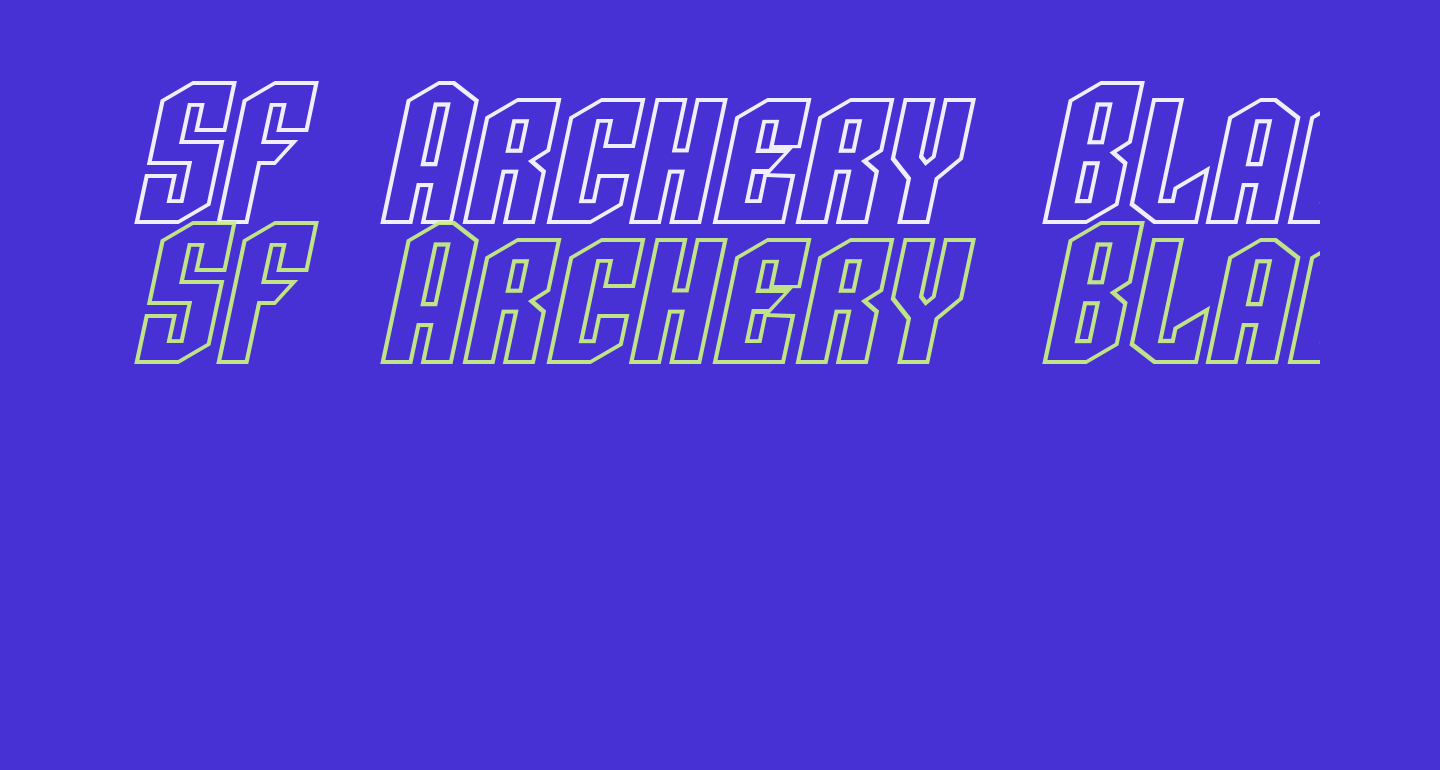 SF Archery Black SC Outline Oblique