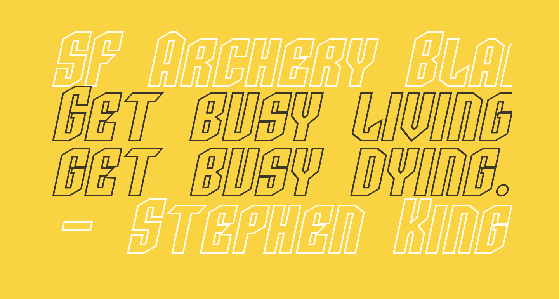 SF Archery Black SC Outline Oblique