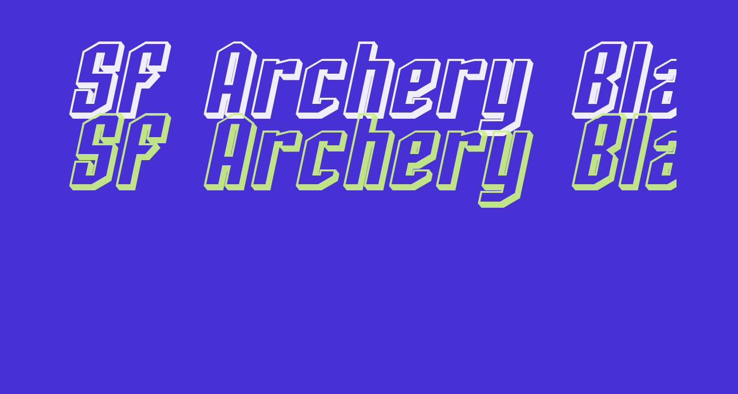 SF Archery Black Shaded Oblique
