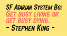 SF Atarian System Bold Italic