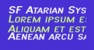 SF Atarian System Extended Italic