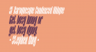 SF Baroquesque Condensed Oblique