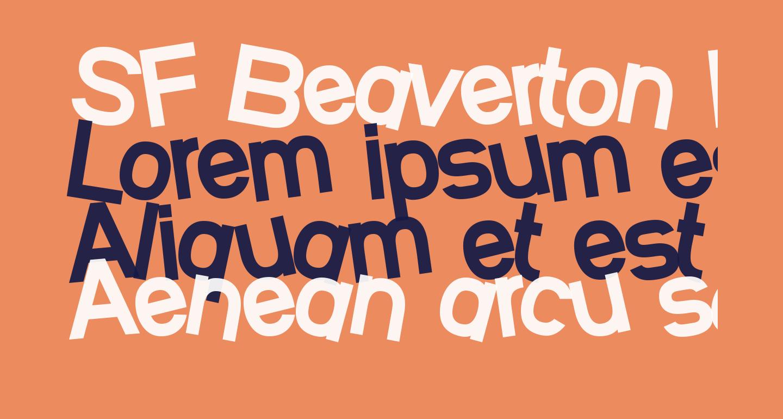 SF Beaverton Heavy