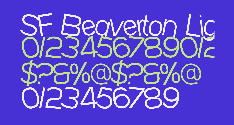 SF Beaverton Light