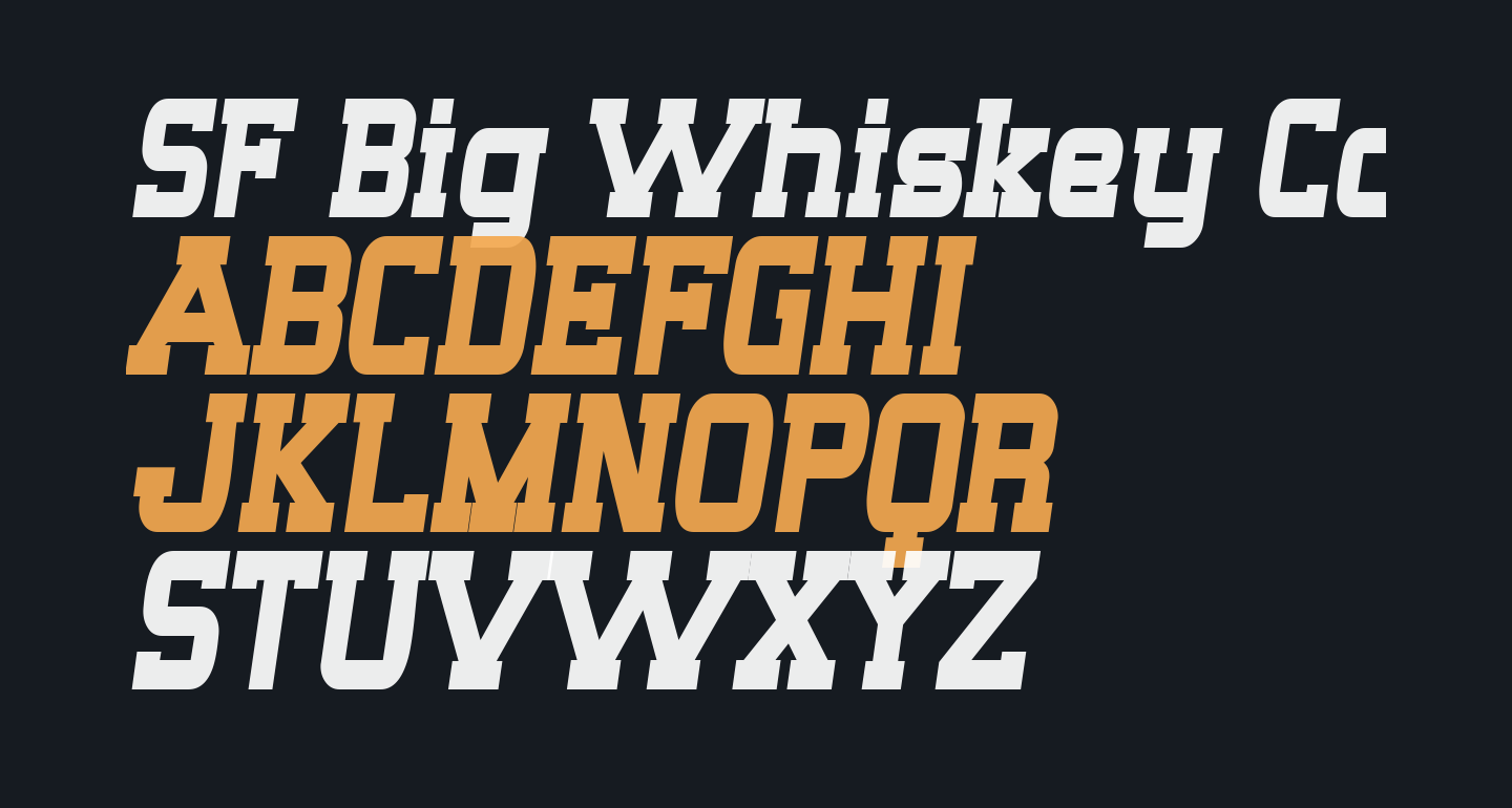 SF Big Whiskey Condensed Bold