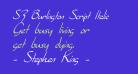 SF Burlington Script Italic